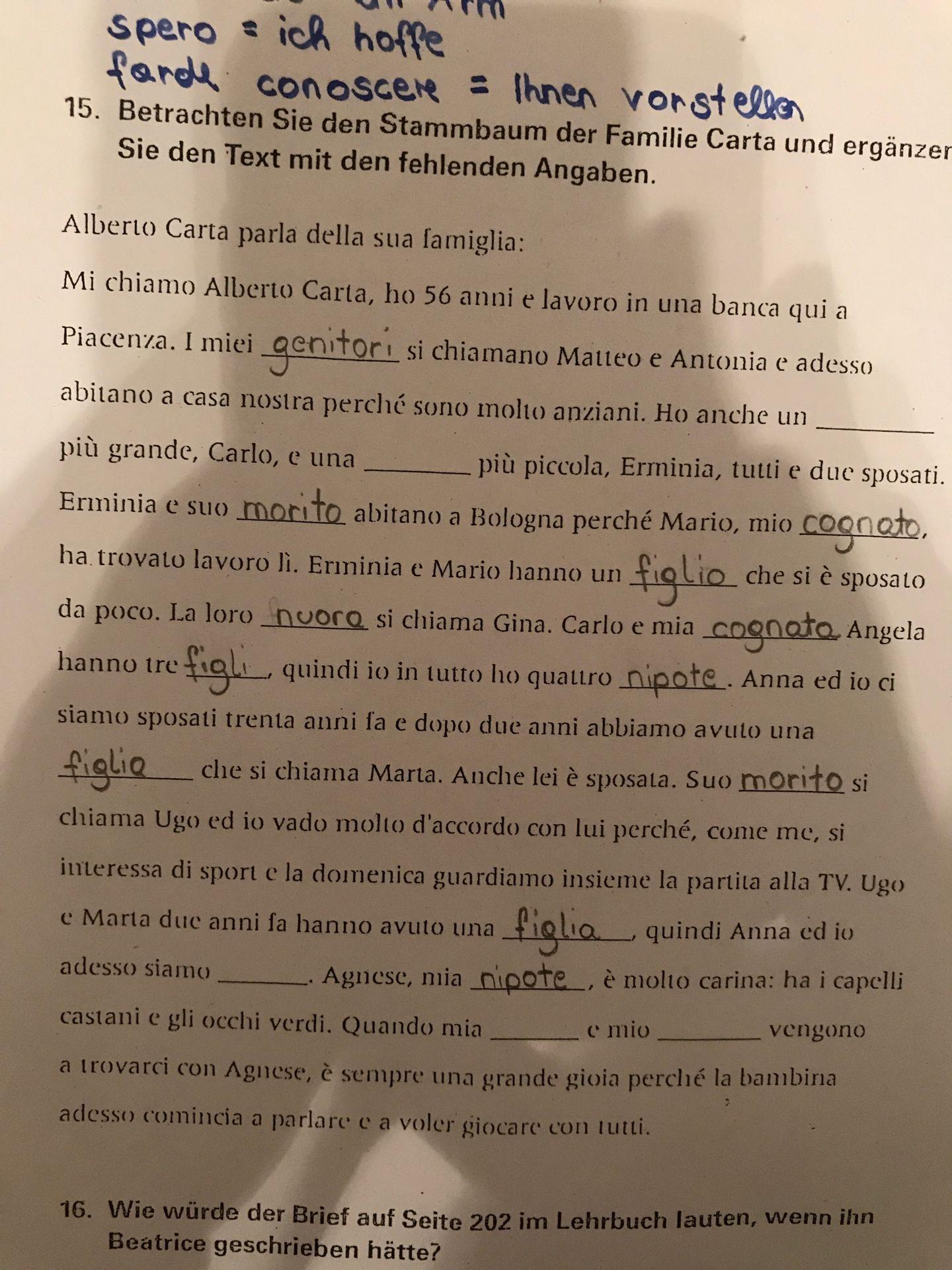 Italienisch Hilfe