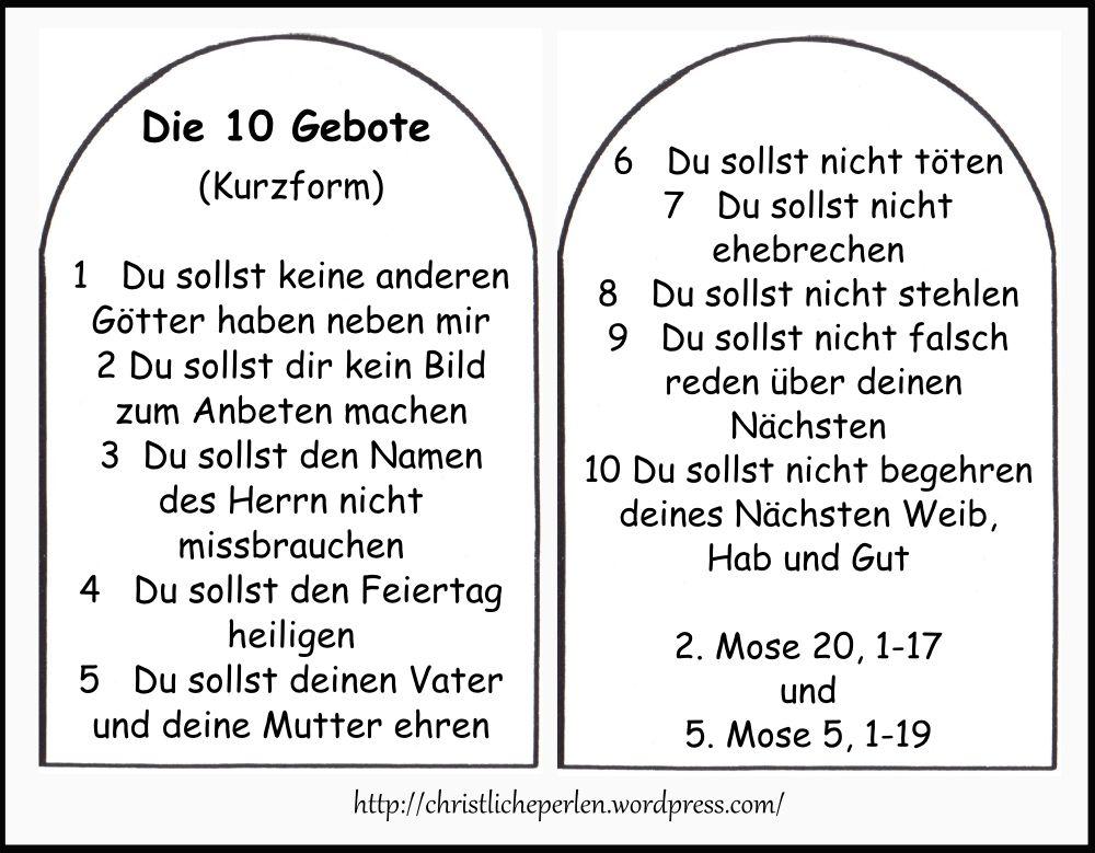 Christentum 10 Gebote