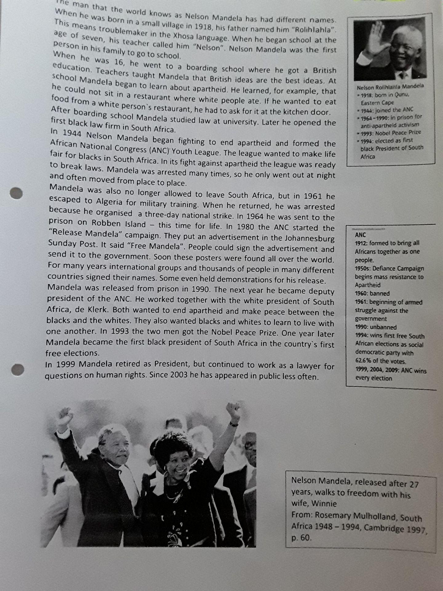 Ich habe in Englisch eine Hausaufgabe aufbekommen ich soll